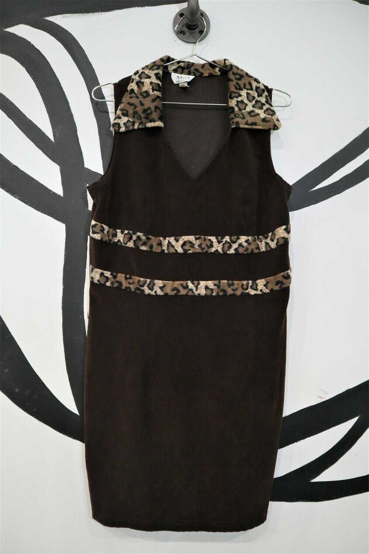 Match Brown Microsuede 90's Dress - Women's Size Medium