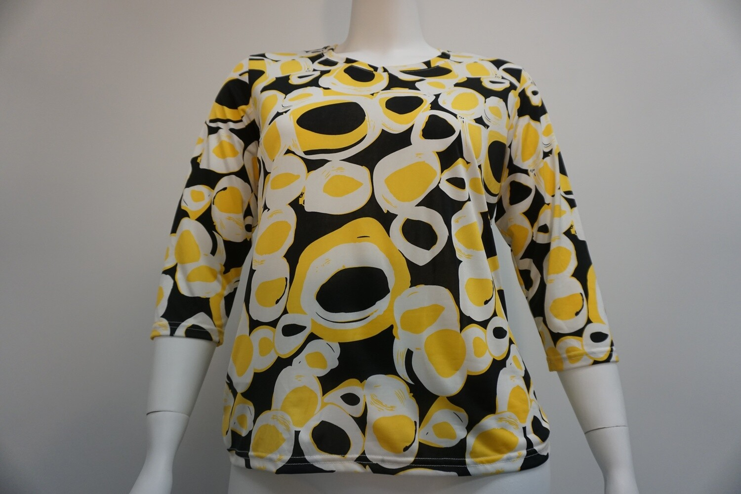 Yellow Black And White Top
