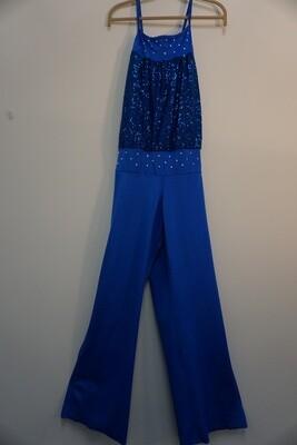 Blue Sequin Jumpsuit
