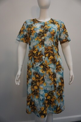 Yellow and Blue Daisy Dress