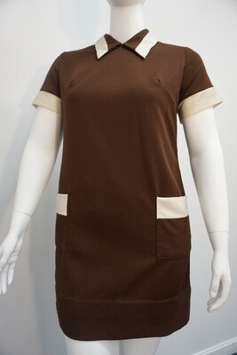 Brown and Cream Dress