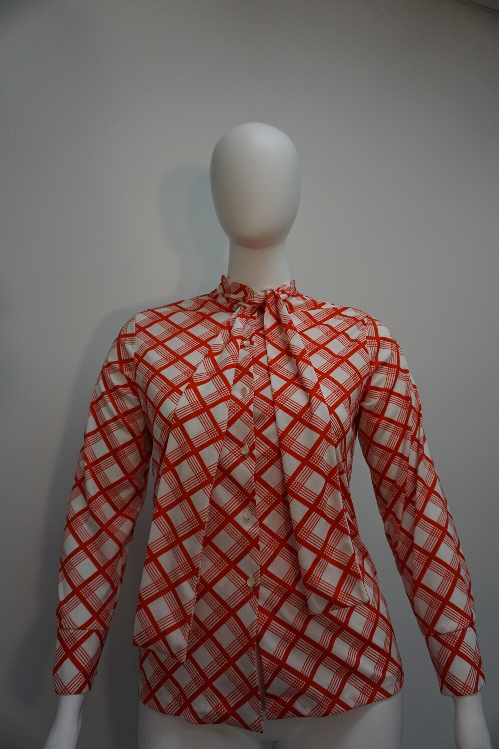 Red And White Blouse