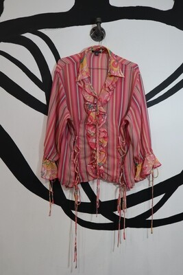 Piano Mixed Pattern Tie Top - Size L