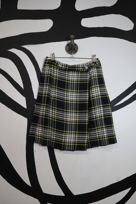 Pleated Plaid Skirt - Size 9