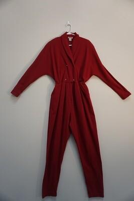Red Cotton Jumpsuit