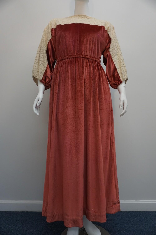 Rose Velour Dress