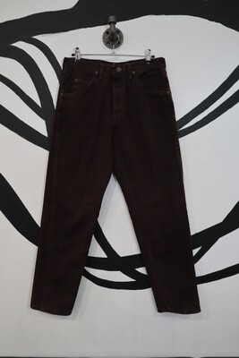 Wrangler Tapered Chocolate Brown Jeans - Size 30x30