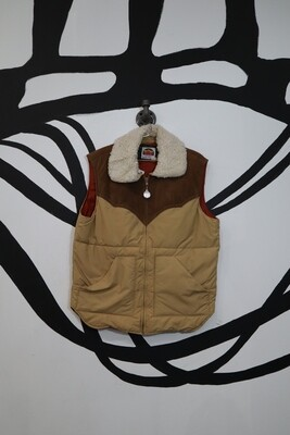 Shearling Collar Puffer Vest - Men's Size M