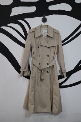London Fog Women's A-line Taupe Trench - Women's Size L