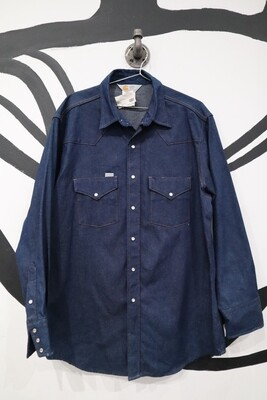 Carhartt Heavy Denim Western Shirt - Men's Large