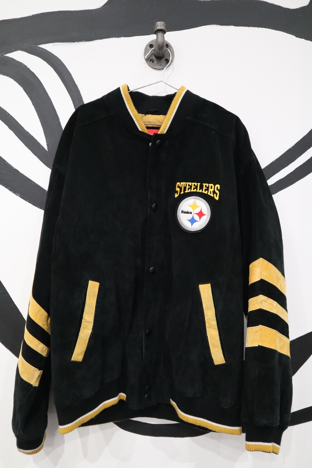 Steelers Suede Team Bomber Jacket - Men's XL