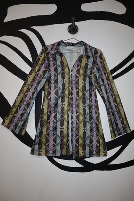 70's Zip Top - Women's Large
