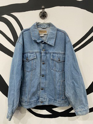 Wrangler Hero Light Wash Denim Jacket - Unisex XL