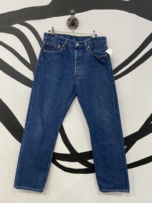 Classic Levi's 501s in Midwash Blue Denim - 33 x 30