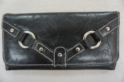 Black wallet with silver