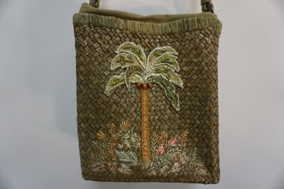 Palm Tree woven purse