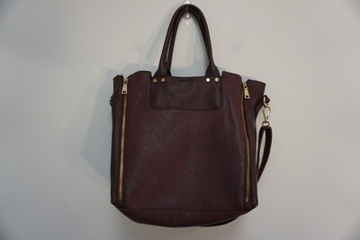 Maroon and Brown tote bag