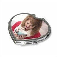 Miroir de poche forme coeur