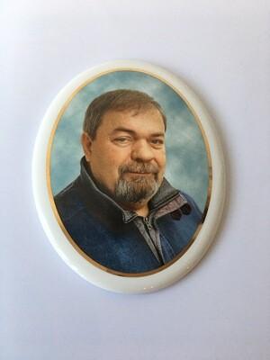 Médailleon Oval en Céramique Photo