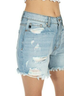 KanCan Raw Hem Denim Short