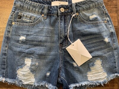KanCan Distressed Denim Shorts