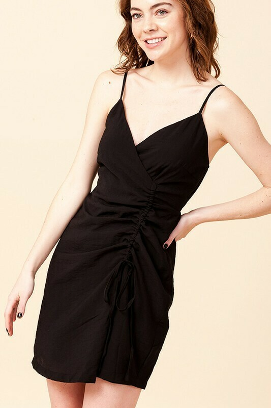 SDRESS WITH FRONT RUCHE DETAIL