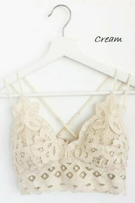 Crochet Lace Bralette- IVORY