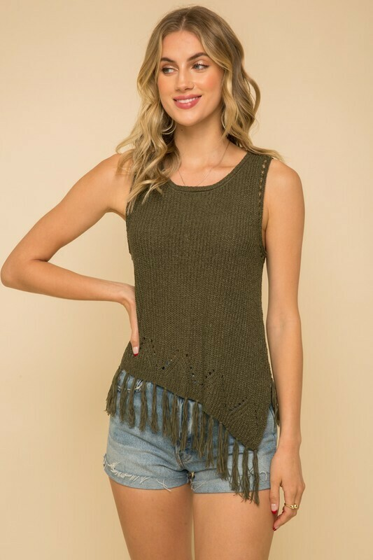 TASSEL SWEATER TOP
