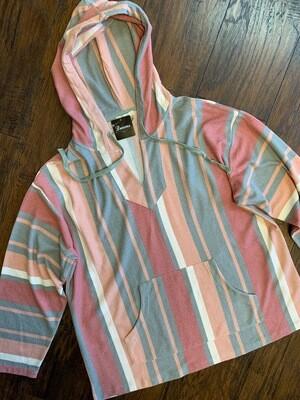 Stripe Pullover Hoodie