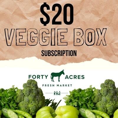 $20 Veggie Box Subscription