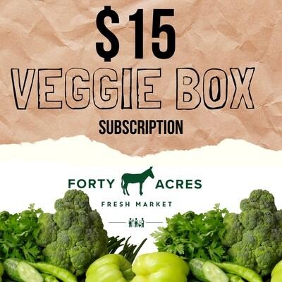 $15 Veggie Box Up Box Subscription