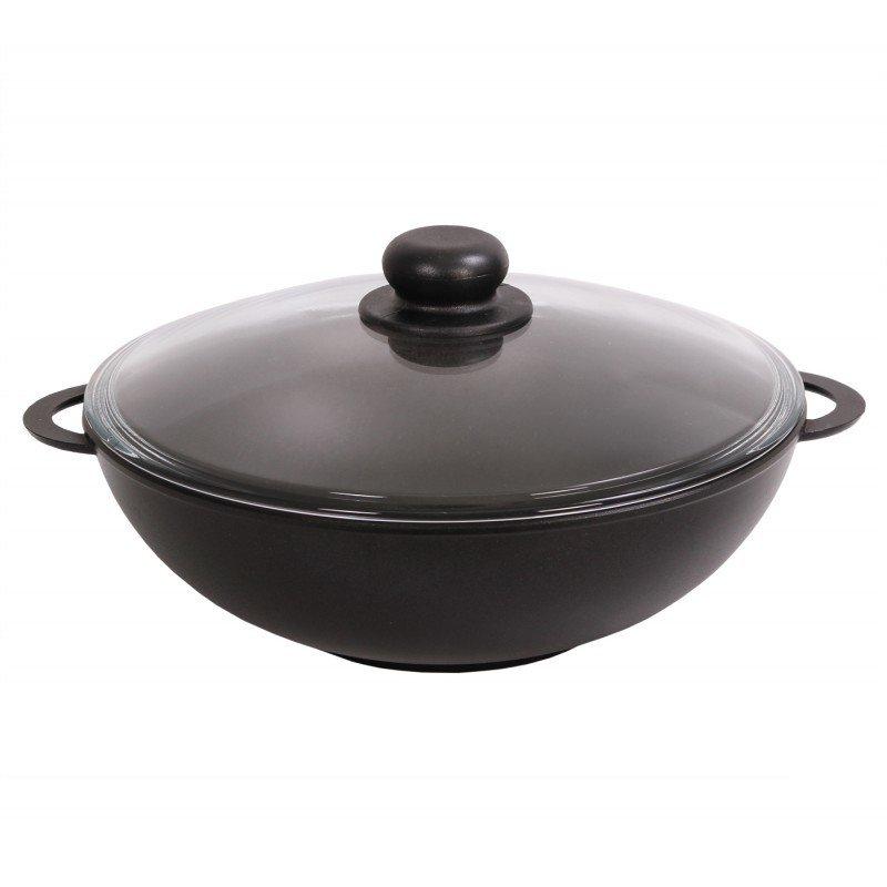 Сковорода Вок, со стеклянной крышкой, 32 см., арт. 3203ПС