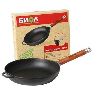 Сковорода чугунная, со съемной ручкой,  22 см., арт. 0122