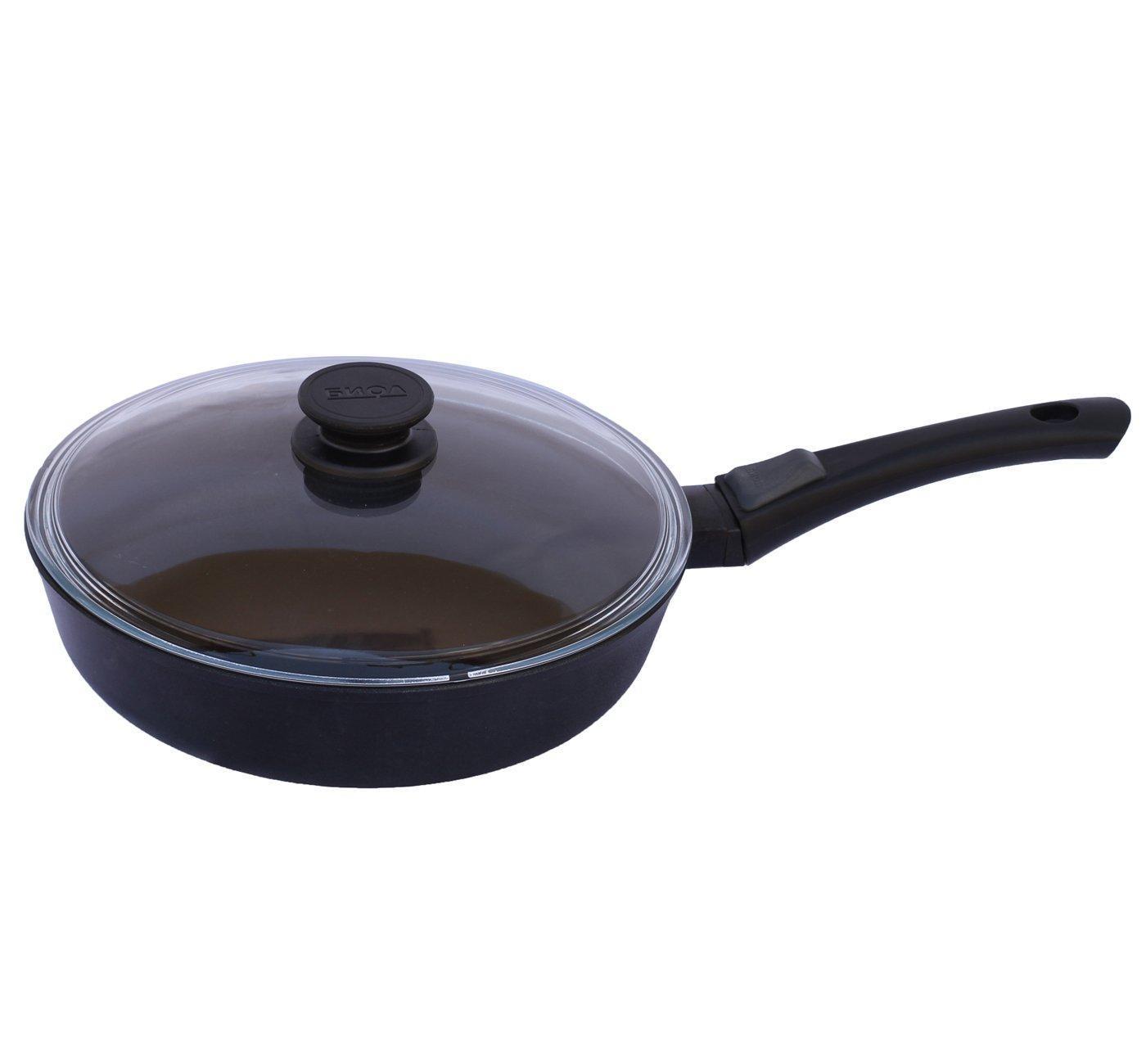 Сковорода со съёмной ручкой и стеклянной крышкой, 26 см., арт. 26071ПС