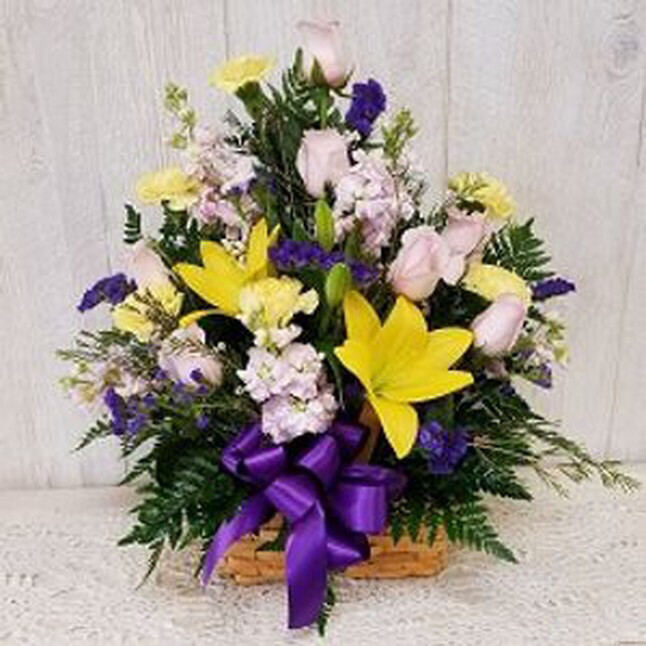 Rose and Lily Basket