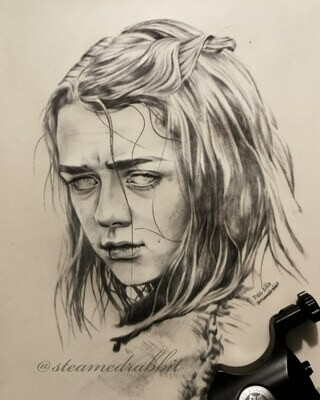 Arya Tattoo Portrait
