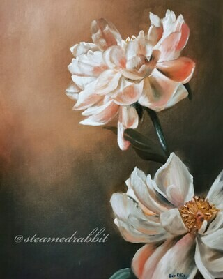 Peonies Oil Painting