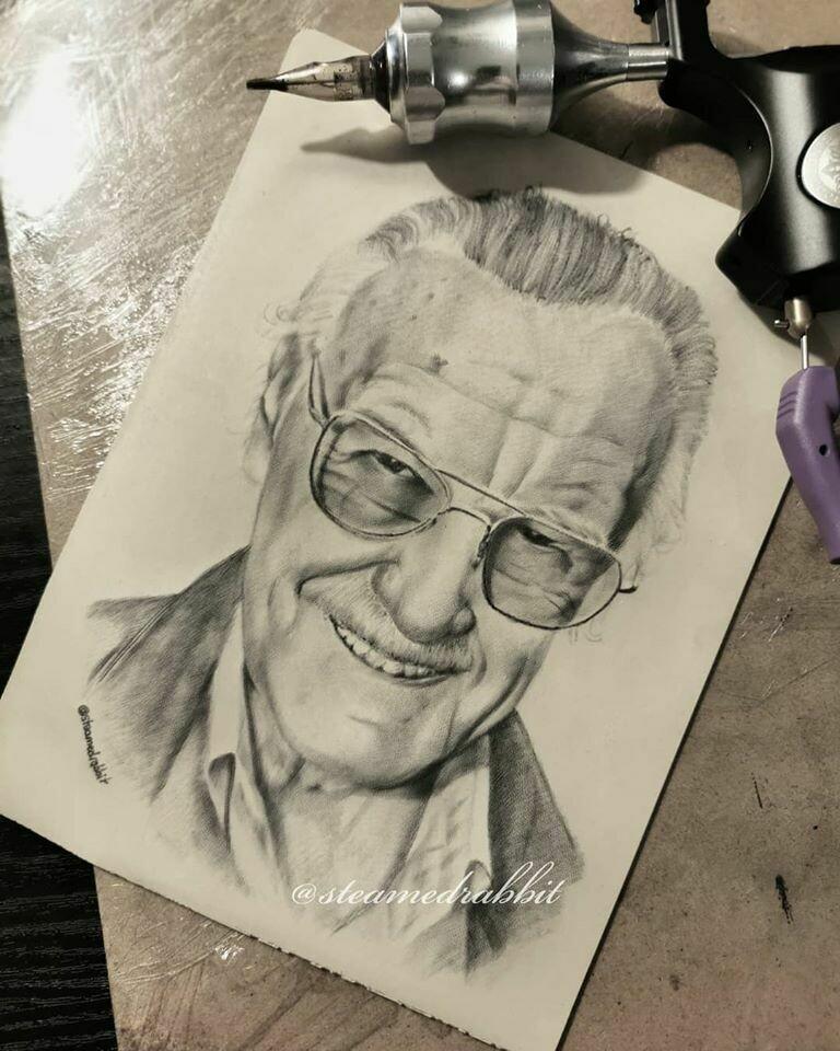 Stan Lee Tattoo Portrait