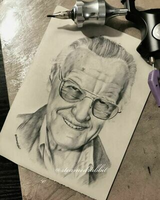 Stan Lee Tattoo Portrait