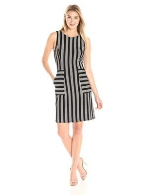 Lark & Ro Textured Stripe Dress