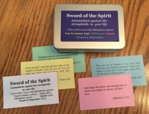 Sword of the Spirit - Specific bible verses useful against hurtful thought patterns - compiled by Alaine Pakkala, Ph.D.