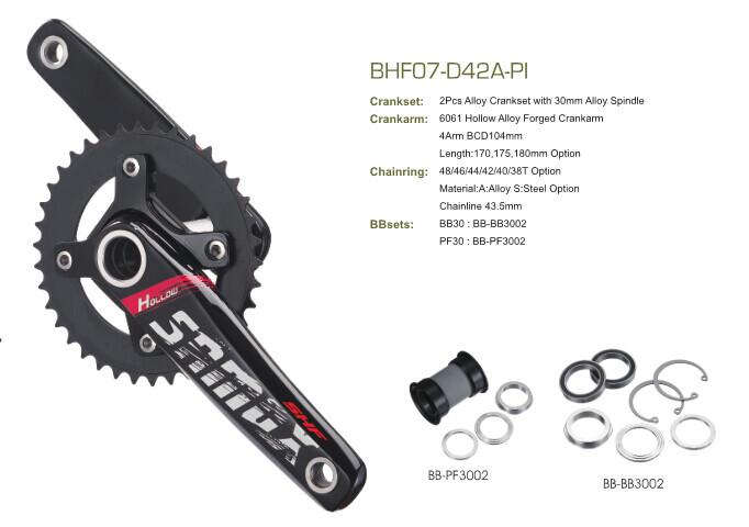 Samox Pro Cranks Oversized PF 30 + BB