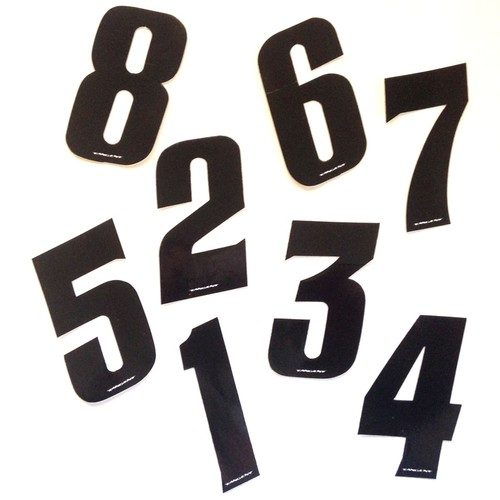 Tangent Plate Numbers Mini or Side 7.5 cm Black