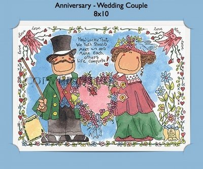 Anniversary Wedding Couple  - Personalized Cartoon Gift