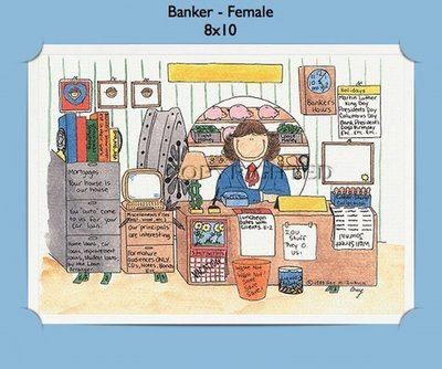 Banker - Personalized Cartoon Gift (Female)