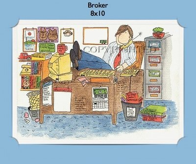 Broker  - Personalized Cartoon Gift
