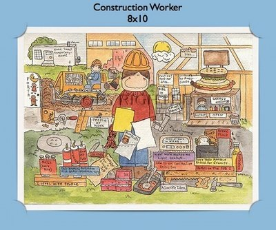 Building & Construction Trades  - Personalized Cartoon Gift