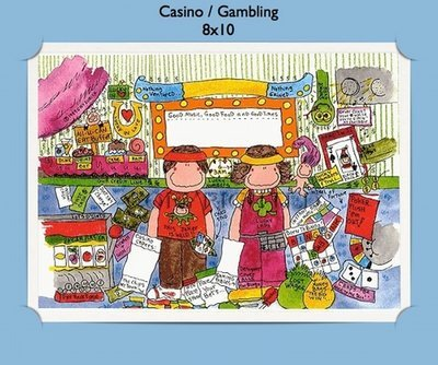 Casino Gambling  - Personalized Cartoon Gift