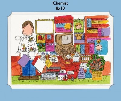 Chemist - Personalized Cartoon Gift