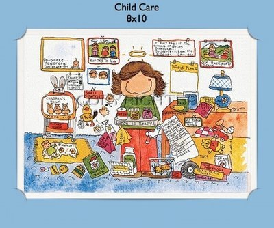 Child Care - Personalized Cartoon Gift